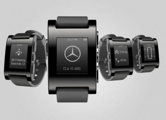 CES: Mercedes-Benz готовит умные часы для авто
