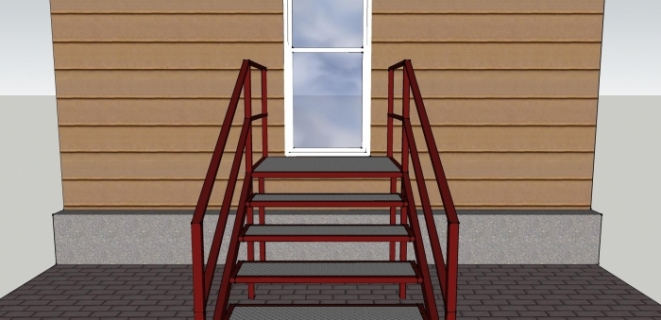 сварная лестница для крыльца