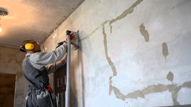 штробления стен под проводку